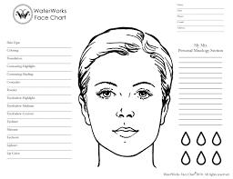 makeup artist sketchbook blank makeup chart mac wallpaper blank