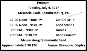 chambersburg u0027s july 4th schedule of events ship saves