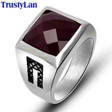 cool mens rings trustylan fashion new solid stainless steel mens rings black