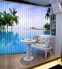 online get cheap 96 blackout curtains aliexpress com alibaba group 3d curtains lake coconut trees curtain for living room for bed room 3d blackout window curtains