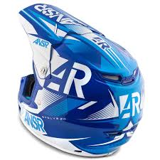 motocross racing helmets answer mx gear evolve 2 ar15 blue white motocross dirt bike