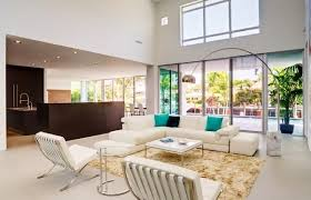Lighting For Living Room With High Ceiling Living Room Living Room With High Ceilings Employs The Arco To