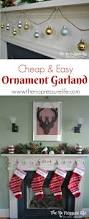 10 minute christmas diy ornament garland on the cheap simple