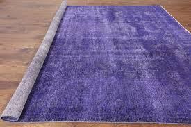 Lilac Rug Tabriz Collection Purple Wash Overdyed Hand Knotted 10 U0027x12 U0027 Wool