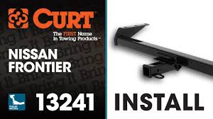 nissan frontier logo trailer hitch install curt 13241 on a nissan frontier youtube
