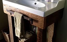 Barnwood Bathroom Vanity Reclaimed Wood Wall Flooring Mantels Table Diy Kit Jimmy Barnwood