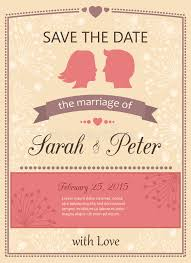 wedding invitations and save the dates save the date wedding invitation card stock vector illustration of
