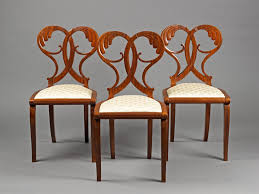 Esszimmerstuhl Toscana Three Chairs Of The Workshop Danhauser Mahogany On Mahogany