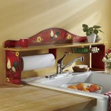 Kitchen Sink Shelves - red rooster sink shelf from seventh avenue 705088