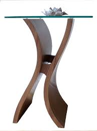 Glass Side Table Exclusive Side Table Designer Furniture Wood And Glass