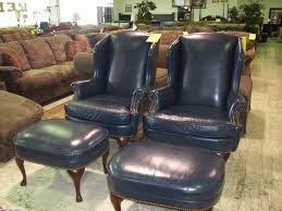Oversized Reclining Chair Chairs Appealing Black Leather Wingback Chair With Ottoman Foot