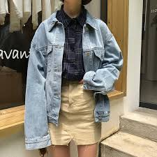 vintage classic casual light jacket 2017 new vintage light blue denim basic classic simple all match