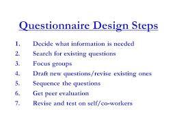 questionnaire design introduction to questionnaire design ppt