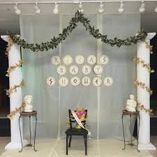 Baby Shower Chair Covers Backdrop For The Stage Of The Greek Themed Baby Shower That I