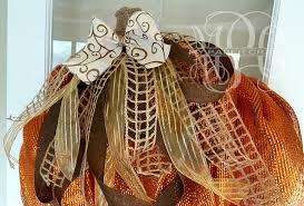rustic ribbon diy rustic pumpkin mesh wreath my paper craze