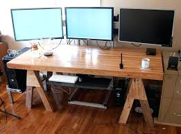 Dual Monitor Computer Desks Multi Computer Desk Multiple Monitor Computer Desk Wooden Gaming