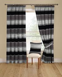 Black And Gray Curtains Montgomery Kansas Curtain Fabric In Colour Black And Grey