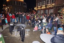 large menorah menorah lighting draws crowd in nevada city yubanet