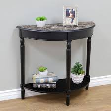 metal demilune console table awesome demilune console table
