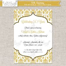 templates 50 u0027s themed wedding invitations with 50th wedding