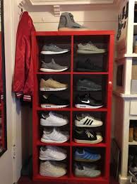 boot hangers ikea shoe rack mens boot rack customized an ikea shelf to make the