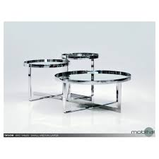 set of three end tables mobital tatlow set of three end tables grey mirror beyond stores
