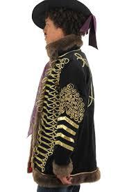 Jimi Hendrix Halloween Costume Deluxe Jimi Hendrix Black U0026 Gold Jacket Premium Costume Mens