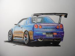 Nissan Gtr R34 - this is my drawing of a nissan skyline gtr r34 what do you think