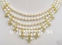 white pearl necklace designs images Wedding wear handmade freshwater pearl jewelry trendy jpg