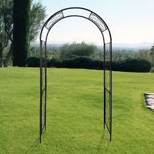gardman gothic arch 8 ft steel arbor hayneedle