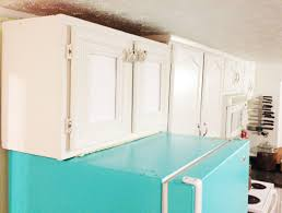 Light Turquoise Paint by Diy Painted Refrigerator Cozy Crooked Cottage