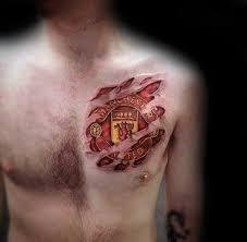 tattoo 3d design chest 40 manchester united tattoo designs for men soccer ideas