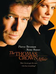 millionaire thomas crown pierce brosnan bored with his life and seeking new challenges steals a less monet from the new york city