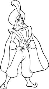 prince ali aladdin coloring page wecoloringpage