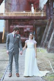 a vintage industrial inspired wedding at sloss furnaces in