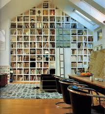 enchanting home library design with natural skylight lighting and