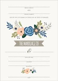 blank wedding invitations fill in wedding invitations soft blue and taupe floral fill in the