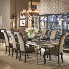 four black painted wood bow backrest dining chairs formal dining