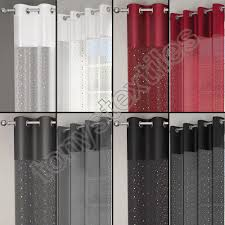 Silver And Red Curtains White And Silver Diamante Curtains Home Decoration Ideas