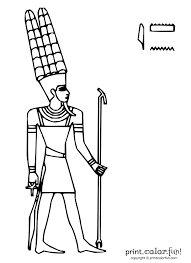 egyptian god amun coloring page print color fun