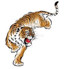 japanese tiger stock illustration illustration of material 42879846