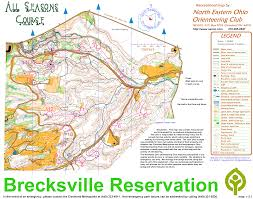Map Of Northeast Ohio by Brecksville All Seasons Course Northeast Ohio Orienteering Club