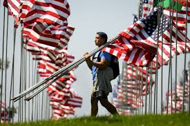 911 Flag Photo Events Memorials In La Area Honoring Sept 11 Victims U2013 Daily News