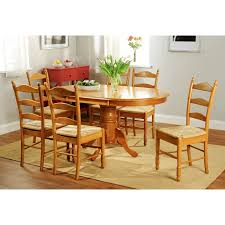 simple living oak finish 7 piece ladderback dining set free