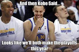 Funny Lakers Memes - and then kobe said looks like we ll both make the playoffs this
