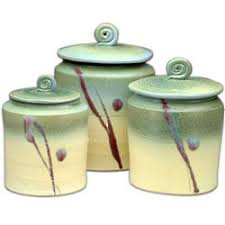pottery kitchen canister sets handmade ceramic canister set for the home ceramic
