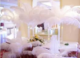 wedding decoration supplies wholesale black white ostrich feather plume for wedding center