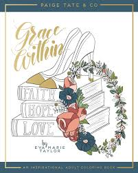 amazon com grace within an inspirational coloring book