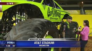 texas monster truck show monster jam 2018 video kdfw
