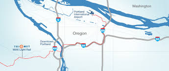 map of oregon freeways portland international airport directions and map